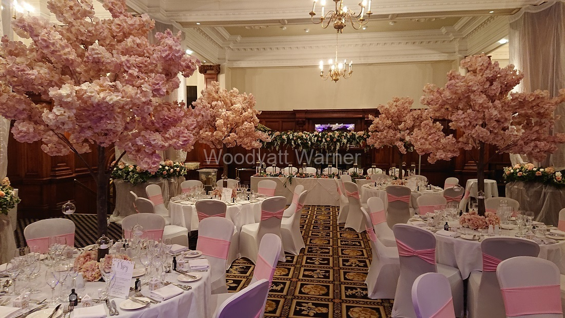 Pink blossom trees Midland Hotel