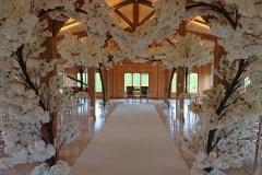 White blossom heart Colshaw Hall