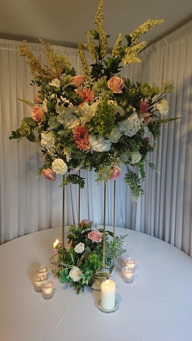 Floral frame centrepiece