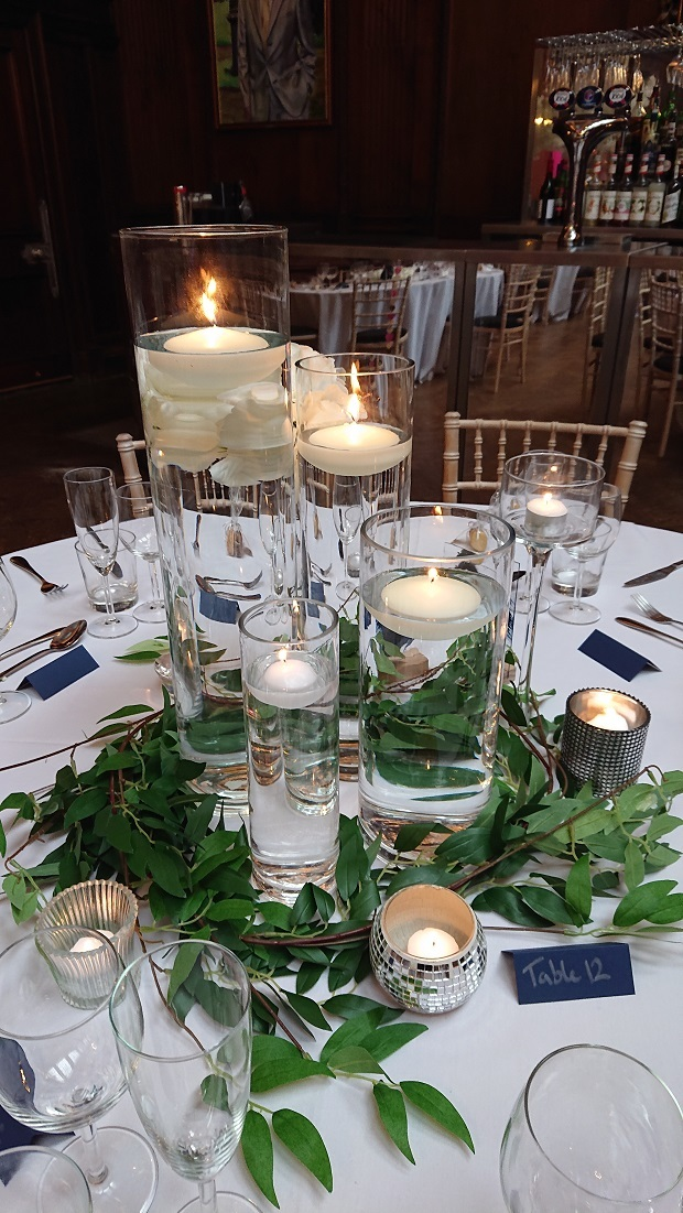 Cylinder vase and candle centrepiece
