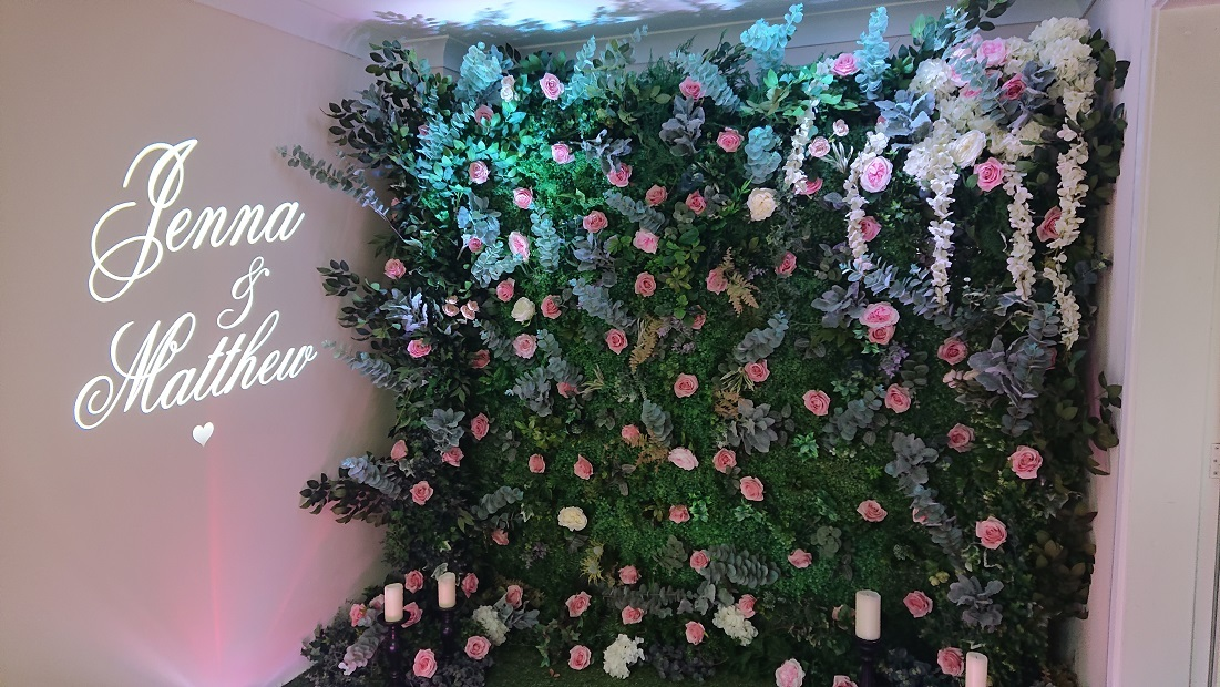 Summer-flower-wall-name-projection