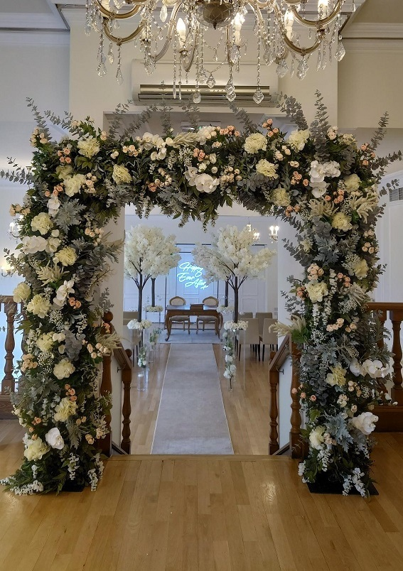 West-Tower-floral-arch