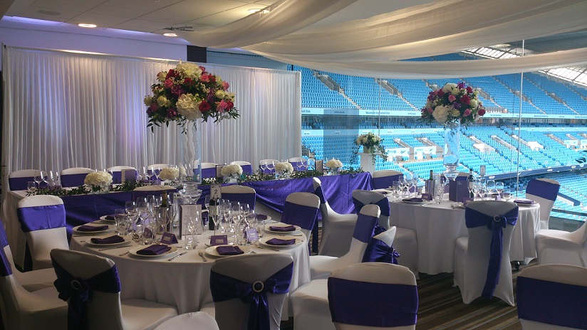 MCFC Wedding venue dressing Woodyatt Warner
