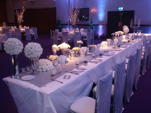 Winter Wonderland Weddings Carden Park Wedding Venue Dressing