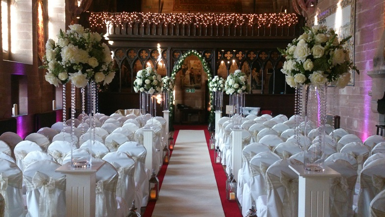 Peckforton Castle venue dressing