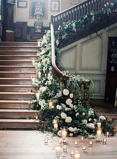 Staircase decoration ideas for weddings