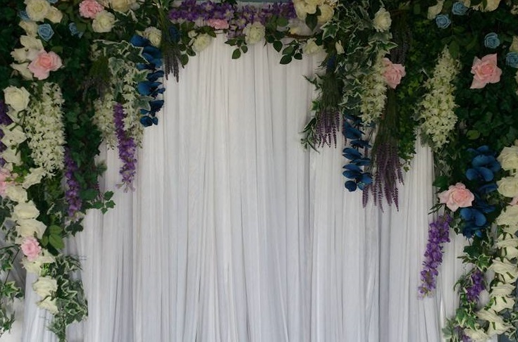 flower wall backdrop hire in cheshire and manchester