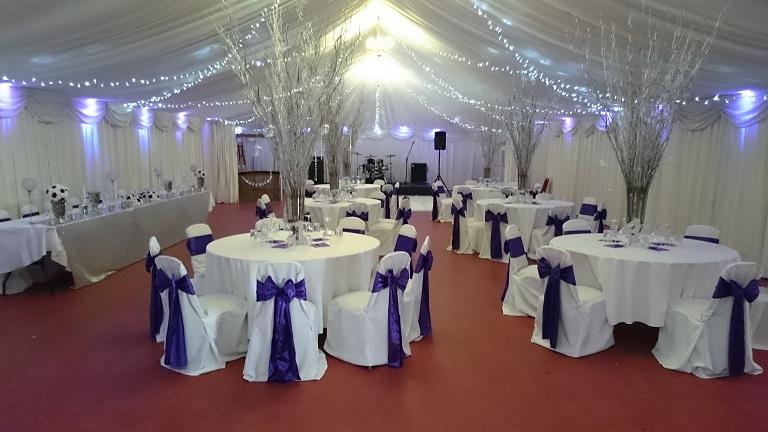 venue dressing at Bowdon rugby club