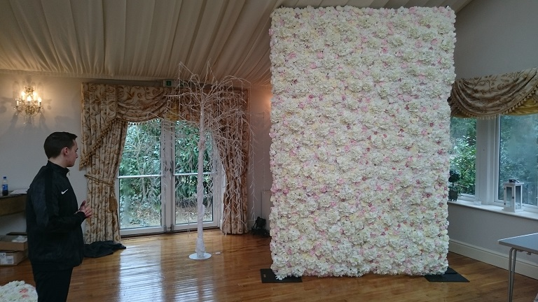 flower wall hire in cheshire