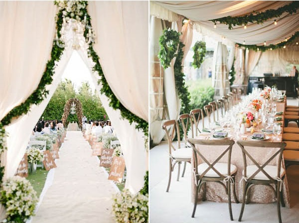 wedding venue dressing