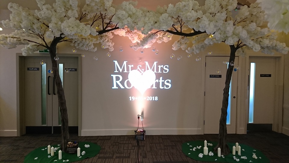 wedding blossom trees