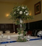 Large rose and ivy centrepiece